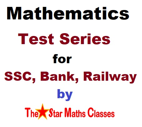 Mathematics Online Test Series for SSC, Bank, Railway, Defence