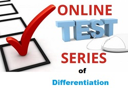 Test Series of Differentiation